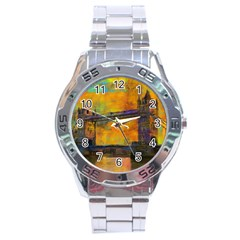 London Tower Abstract Bridge Stainless Steel Analogue Watch
