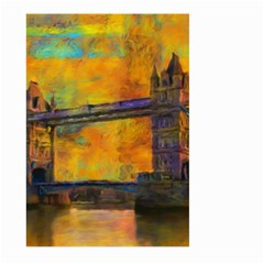 London Tower Abstract Bridge Large Garden Flag (two Sides)