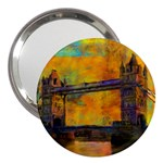 London Tower Abstract Bridge 3  Handbag Mirrors Front