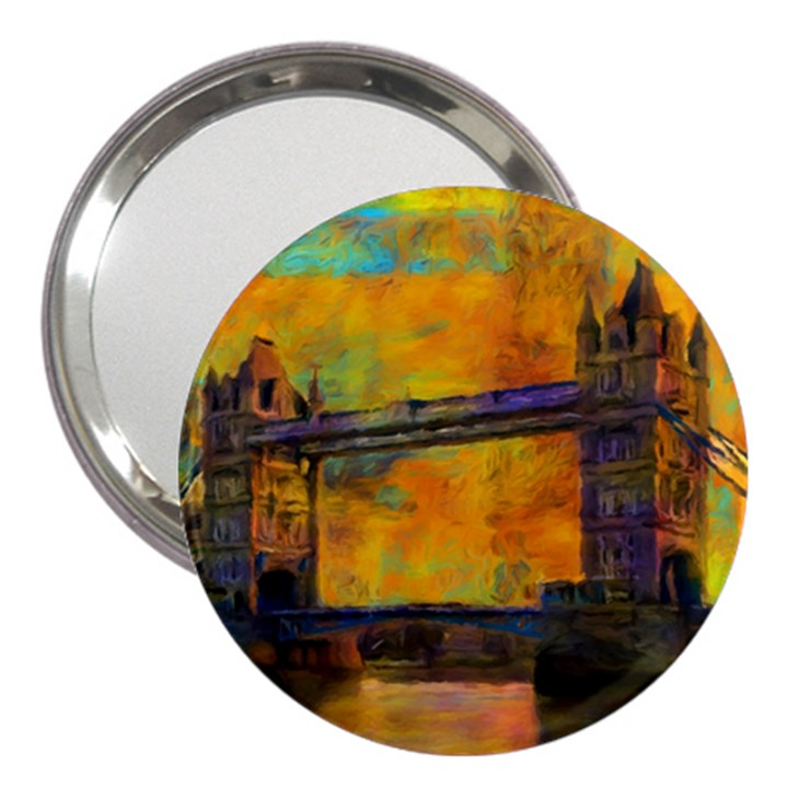London Tower Abstract Bridge 3  Handbag Mirrors