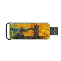 London Tower Abstract Bridge Portable Usb Flash (two Sides)