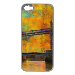 London Tower Abstract Bridge Apple Iphone 5 Case (silver)