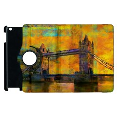 London Tower Abstract Bridge Apple Ipad 3/4 Flip 360 Case