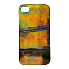 London Tower Abstract Bridge Apple Iphone 4/4s Hardshell Case With Stand