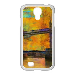 London Tower Abstract Bridge Samsung Galaxy S4 I9500/ I9505 Case (white)