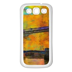 London Tower Abstract Bridge Samsung Galaxy S3 Back Case (white)