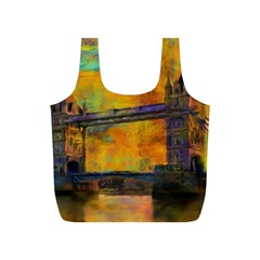 London Tower Abstract Bridge Full Print Recycle Bags (s)
