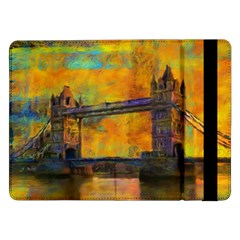 London Tower Abstract Bridge Samsung Galaxy Tab Pro 12 2  Flip Case