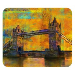 London Tower Abstract Bridge Double Sided Flano Blanket (small)
