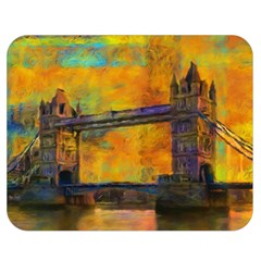 London Tower Abstract Bridge Double Sided Flano Blanket (medium)