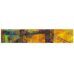 London Tower Abstract Bridge Flano Scarf (large)