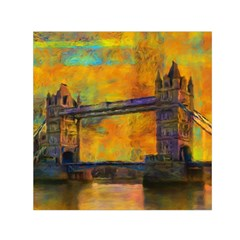 London Tower Abstract Bridge Small Satin Scarf (square)