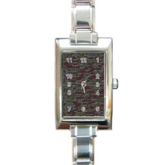 Full Frame Shot Of Abstract Pattern Rectangle Italian Charm Watch
