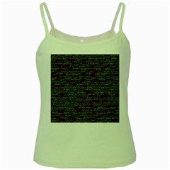 Full Frame Shot Of Abstract Pattern Green Spaghetti Tank