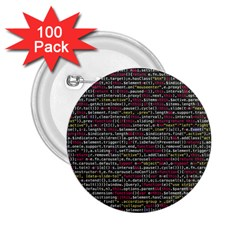 Full Frame Shot Of Abstract Pattern 2.25  Buttons (100 pack)