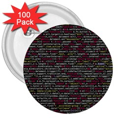 Full Frame Shot Of Abstract Pattern 3  Buttons (100 Pack)