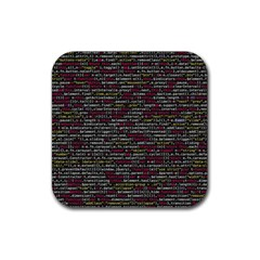 Full Frame Shot Of Abstract Pattern Rubber Square Coaster (4 pack)