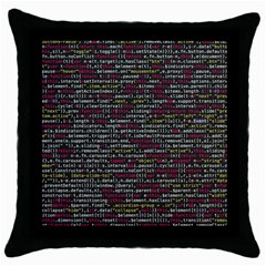 Full Frame Shot Of Abstract Pattern Throw Pillow Case (black)