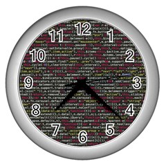 Full Frame Shot Of Abstract Pattern Wall Clocks (silver)