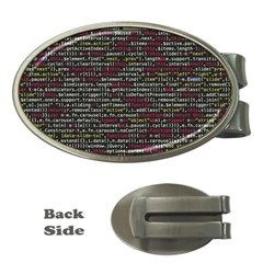 Full Frame Shot Of Abstract Pattern Money Clips (oval)