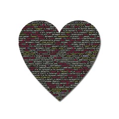 Full Frame Shot Of Abstract Pattern Heart Magnet