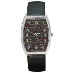 Full Frame Shot Of Abstract Pattern Barrel Style Metal Watch