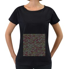 Full Frame Shot Of Abstract Pattern Women s Loose Fit T Shirt (black)