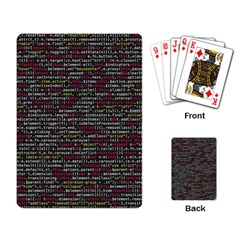 Full Frame Shot Of Abstract Pattern Playing Card