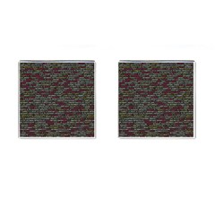 Full Frame Shot Of Abstract Pattern Cufflinks (square)