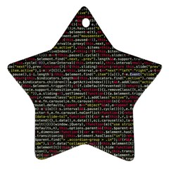 Full Frame Shot Of Abstract Pattern Star Ornament (two Sides)