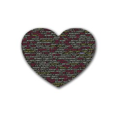 Full Frame Shot Of Abstract Pattern Heart Coaster (4 Pack)