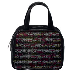 Full Frame Shot Of Abstract Pattern Classic Handbags (one Side)