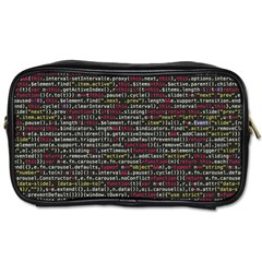 Full Frame Shot Of Abstract Pattern Toiletries Bags