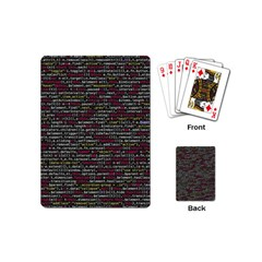 Full Frame Shot Of Abstract Pattern Playing Cards (mini)