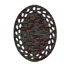 Full Frame Shot Of Abstract Pattern Oval Filigree Ornament (2 Side)