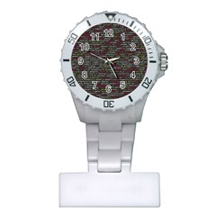 Full Frame Shot Of Abstract Pattern Plastic Nurses Watch