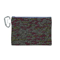 Full Frame Shot Of Abstract Pattern Canvas Cosmetic Bag (m)