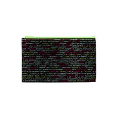 Full Frame Shot Of Abstract Pattern Cosmetic Bag (xs)