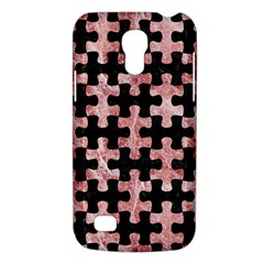 Puzzle1 Black Marble & Red & White Marble Samsung Galaxy S4 Mini (gt I9190) Hardshell Case