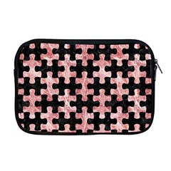 Puzzle1 Black Marble & Red & White Marble Apple Macbook Pro 17  Zipper Case