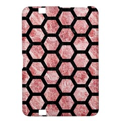 Hexagon2 Black Marble & Red & White Marble (r) Kindle Fire Hd 8 9  Hardshell Case
