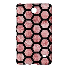 Hexagon2 Black Marble & Red & White Marble (r) Samsung Galaxy Tab 4 (8 ) Hardshell Case