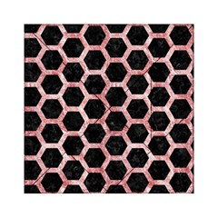 Hexagon2 Black Marble & Red & White Marble Acrylic Tangram Puzzle (6  X 6 )