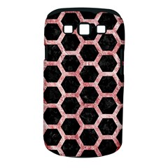 Hexagon2 Black Marble & Red & White Marble Samsung Galaxy S Iii Classic Hardshell Case (pc+silicone)