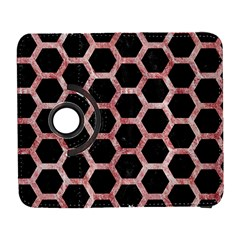 Hexagon2 Black Marble & Red & White Marble Samsung Galaxy S  Iii Flip 360 Case