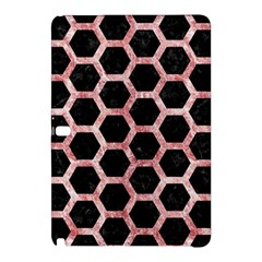 Hexagon2 Black Marble & Red & White Marble Samsung Galaxy Tab Pro 10 1 Hardshell Case