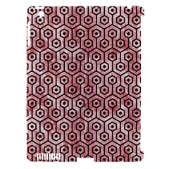 Hexagon1 Black Marble & Red & White Marble (r) Apple Ipad 3/4 Hardshell Case (compatible With Smart Cover)