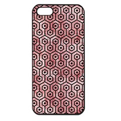 Hexagon1 Black Marble & Red & White Marble (r) Apple Iphone 5 Seamless Case (black)