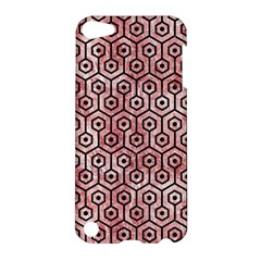 Hexagon1 Black Marble & Red & White Marble (r) Apple Ipod Touch 5 Hardshell Case
