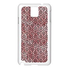Hexagon1 Black Marble & Red & White Marble (r) Samsung Galaxy Note 3 N9005 Case (white)